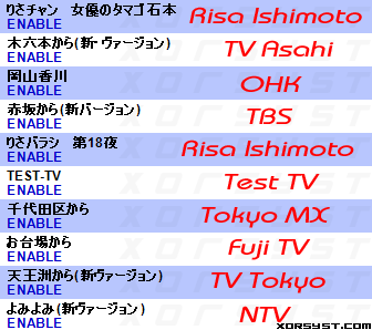 KeyholeTV Channel Listings in English