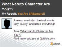 I am Shikamaru! What are you?