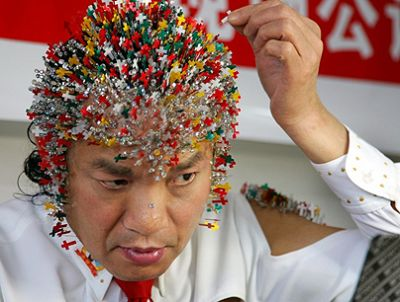 Dr. Sheng stunt for Beijing Olympics 2008