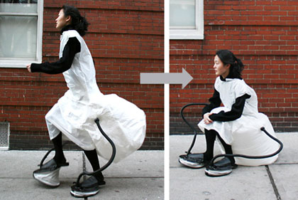 Wear the inflatable dress chair