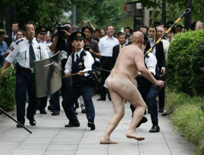 Spanish man at Japanese Imperial Palace