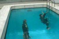 Walking under a pool