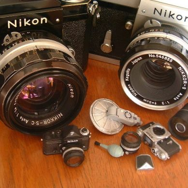 Mini Nikon SLR in Japanese candy